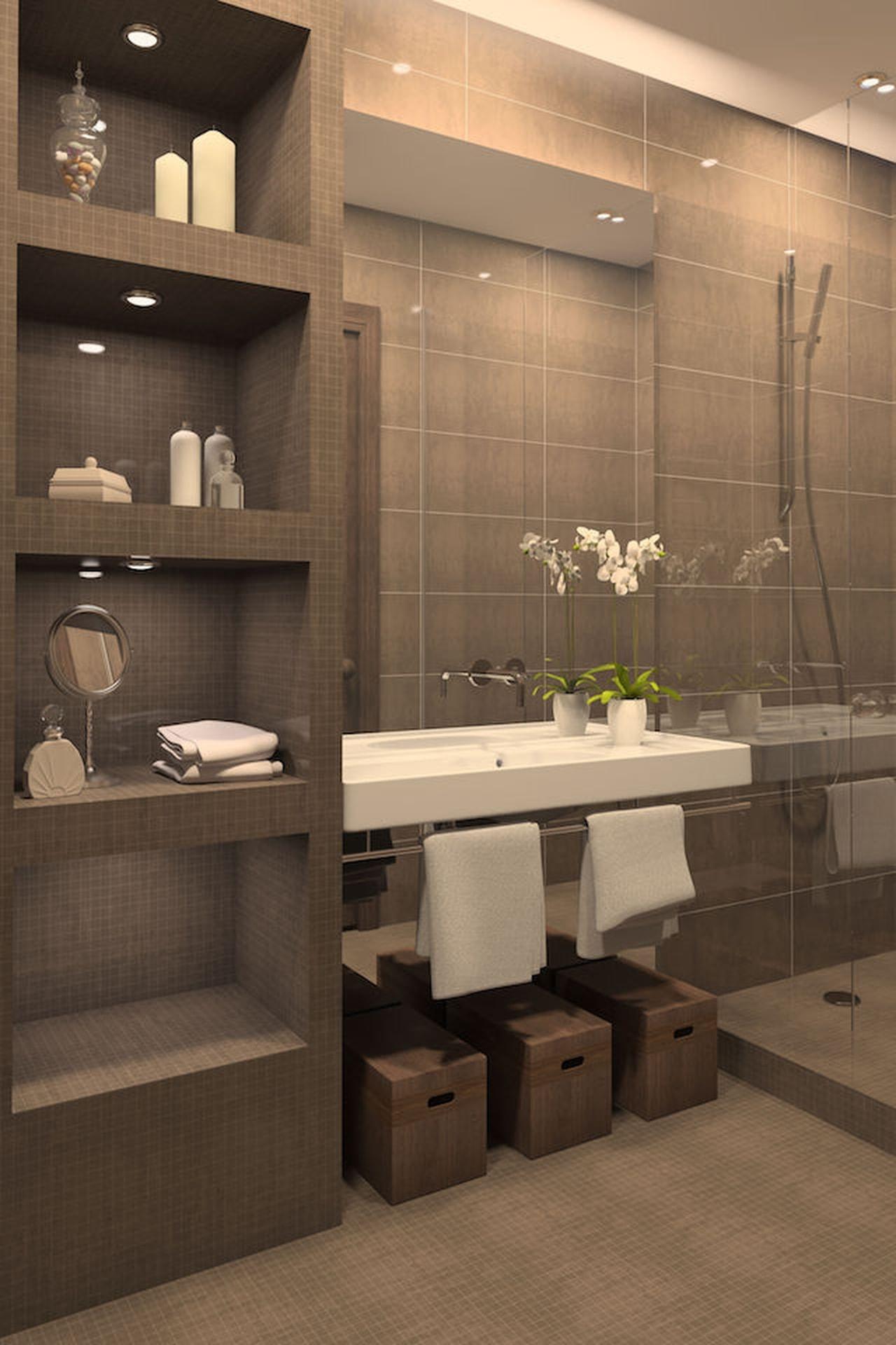 bagno in muratura: 3 idee in stile (non solo) rustico - Foto Bagni Moderni In Muratura
